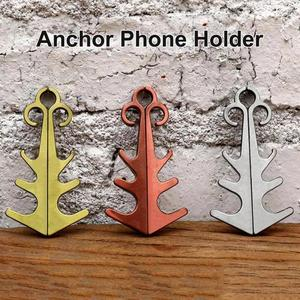 Chinese Knot Phone Holder Magnetic Phone Stands Portable Mini Mobile Phone Holder Retro Anchor Design Stainless Steel GPS Holder