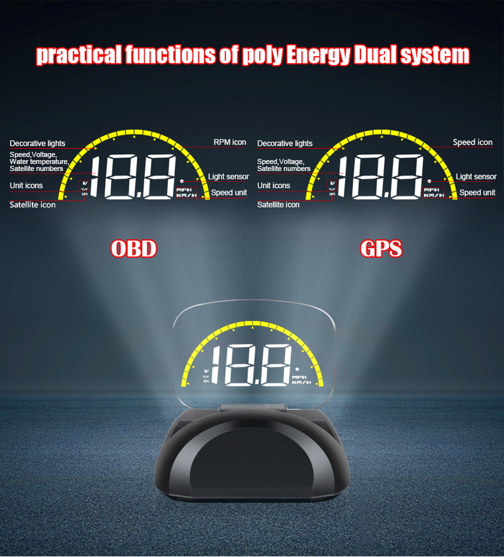 Автомобильный Электронный hud head up display obd gps obd2 Универсальный