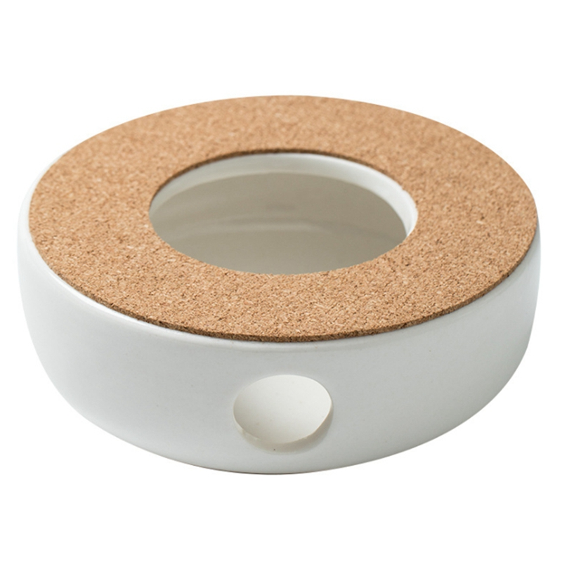 Mini Portable Ceramic Teapot Holder Base Teapot Warmer Insulation Base Coffee Water Warmer Candle Holder Tea Accessories