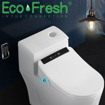 Ecofresh bathroom smart toilet seat cover electronic bidet clean dry seat heating wc gold intelligent led light toilet seat gappo toilet seats simple clean toilet seat cover toilet bidet seat intelligent washlet smart wash bidet