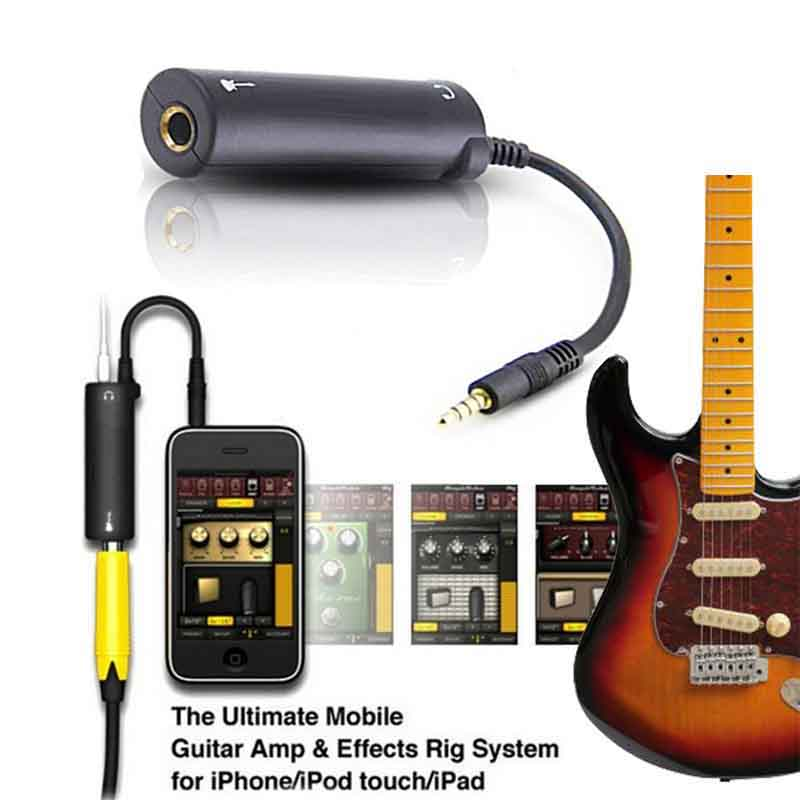 Guitar Link Audio Interface Cable AMP Amplifier I-Rig Converter Effects Pedal Adapter Tuner System Convertor For IPhone IPad