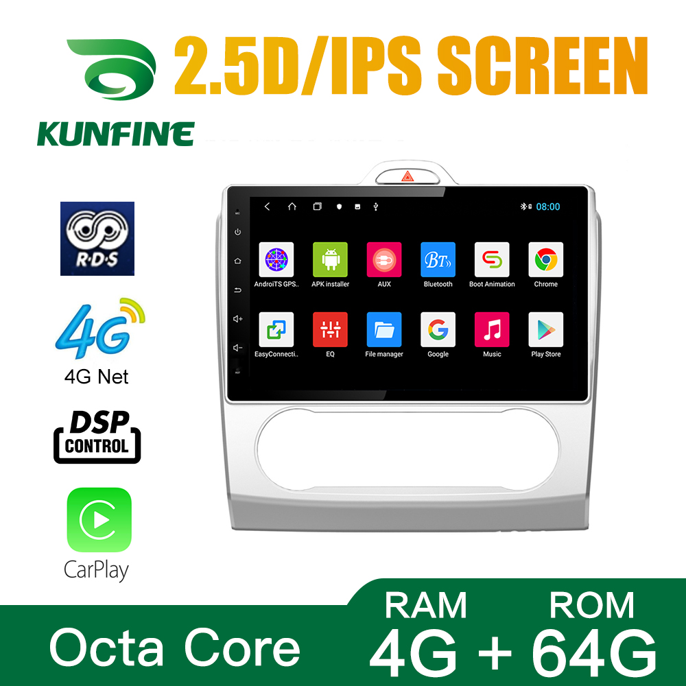 Octa Core 1024*600 Android 8.1 Car DVD <font><b>GPS</b></font> Navigation Player Deckless Car Stereo for <font><b>FORD</b></font> <font><b>Focus</b></font> 2004-2011 Headunit Radio image