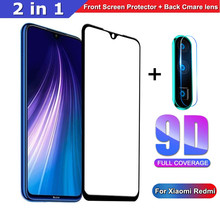 2 in 1 Tempered Glass For Xiaomi Redmi 8 8A Note 7 8 Pro Back Cmare lens + front film for Redmi 7 7A 9D full cover Protective(China)