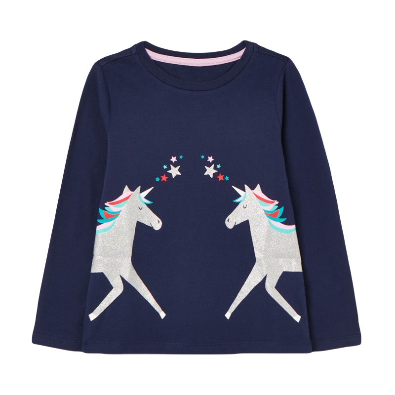 H07928e5f858b47e8b16d92076c1a37dbO VIDMID Baby Girls Long Sleeve Casual T-shirts Kids Cotton Floral Cartoon Clothes s Children Girls T-shirts Tees Kids Baby