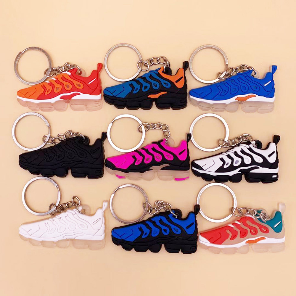 Hot Sale Cute Mini Silicone  Max Plus TN Keychain Basketball Shoes Backpack Pendant Keyring Creative Gift Force Shoe Keychain