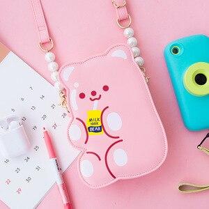 Image 3 - Сумка Кроссбоди Bentoy из искусственной кожи для девочек, сумка Органайзер для телефона, сумка через плечо, милый лазерный подарок для девочек подростков