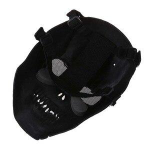 Image 4 - Leger Schedel Skelet Airsoft Paintball Bb Gun Full Face Game Bescherm Safe Mask Zilver Zwart