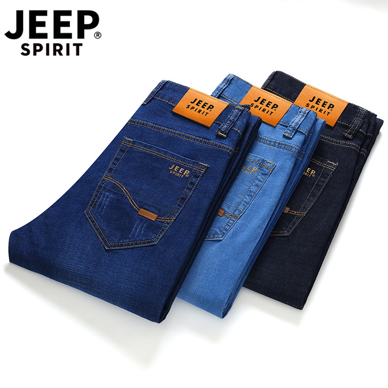 Jeans Men Brand JEEP SPIRIT Autumn Jeans Hombre Cotton Smart Casual Men's Jeans Pants Men Straight Jean Homme Size 28-40