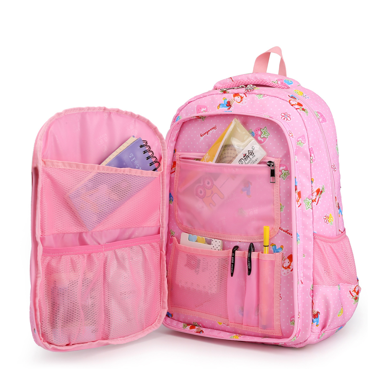 Jiang Hao New Style School Bag Young STUDENT'S 1-3-4-6 Grade Girls School Bag Children Large-Volume GIRL'S Light Burden Relievin