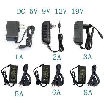 Zasilanie DC 5V 9 V 12V 19 V 1A 2A 3A 5A 6A 8A Adapter do zasilacza DC 5 9 12 19 V zasilacz Adapter do zasilacza taśma oświetleniowa Led tanie i dobre opinie jiansu CN (pochodzenie) 5V 9V 12V 19V 1A 2A 3A 5A 6A 8A Power Supply Adapter 5 5mm * 2 5mm przełączający się podłączenie