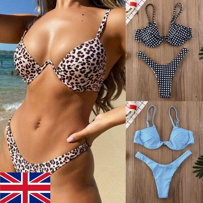 Sexy Push Up Unpadded Brazilian Bikini Set Women 4 Colors Bandage Bikini Set Swimsuit Triangle Swimwear Bathing