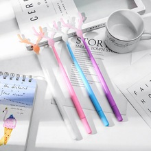 4 Pcs/Set gel pen deer caneta cute Christmas Kawaii pens for school canetas boligrafo papelaria stationery stylo kalem 12 pcs set gel pen white boligrafo set color papelaria kawaii caneta cute stationery pens for school kalem