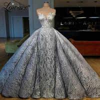 Luxus Arabisch Party Kleider Mit Abnehmbaren Zug Illusion Pailletten Nahen Osten Frauen Abendkleid Robe De Soiree Lange Prom Kleid