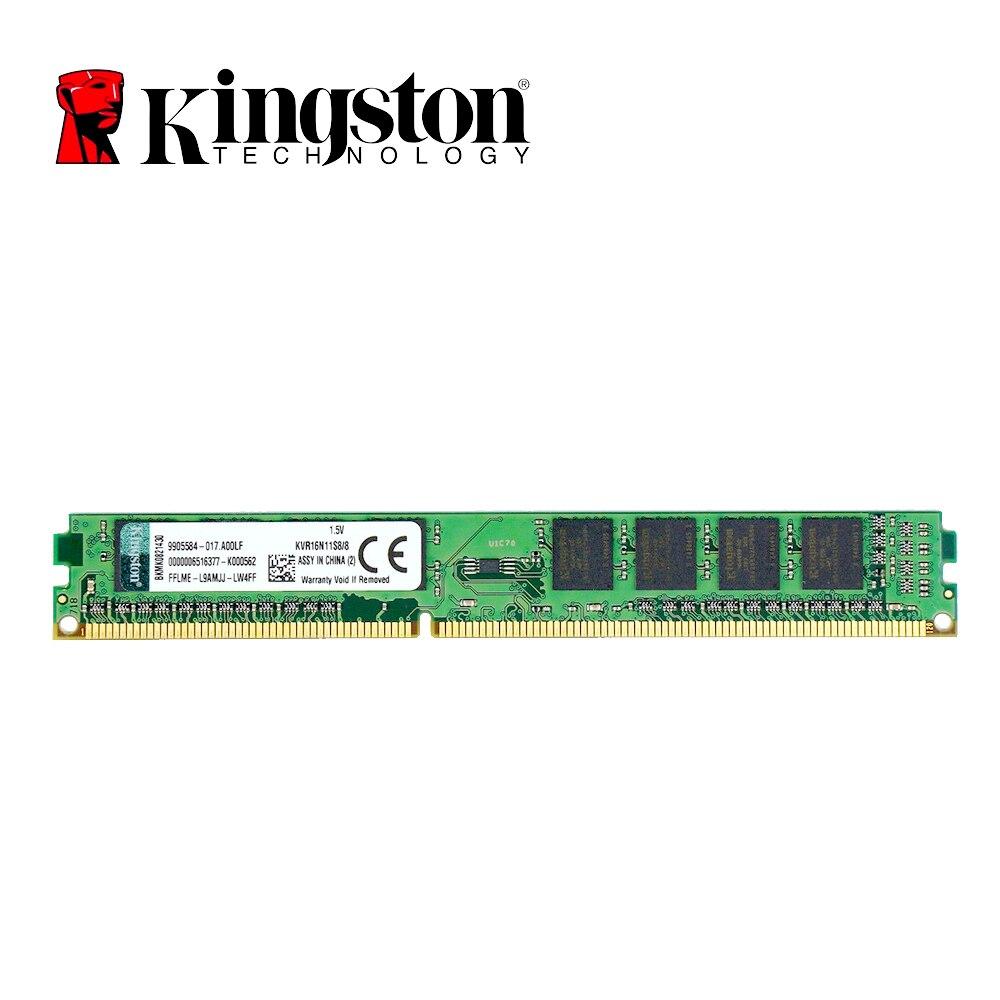Original Kingston RAM Memory 8GB DDR 3 1600MHZ DDR 3 PC3-12800 1.5V 240-Pin For Desktop