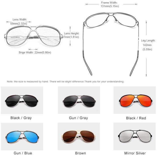 KINGSEVEN New Design Pilot Sunglasses