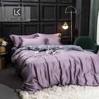 ParkShin Luxury Bedding Set 100% Silk Natural Fabric Soft Duvet Cover Decor Bedspread Double Flat Sheet Queen King Bed Linen Set
