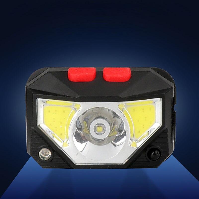 Ourdoor налобный фонарь светодиодный индукционный красный Мини USB Перезаряжаемый Головной фонарь встроенный аккумулятор многофункциональный...
