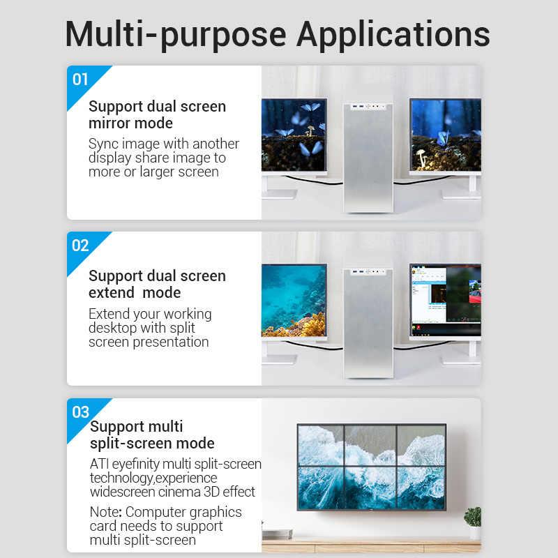 Vention displayport 1.4 ケーブル 8 18k @ 60hz高速 32.4 5gbpsディスプレイポートケーブルビデオpcのラップトップdp 1.4 ディスプレイポート 1.2 ケーブル