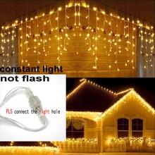 8 m 48 m جليد عيد الميلاد الطوق LED الستار سلسلة ضوء 220V تدلى 0.4 0.6m مول الطنف حديقة مرحلة في الهواء الطلق أضواء الزخرفية