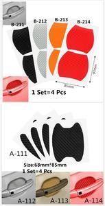 Image 3 - 1Set=4Pcs Door handle carbon fiber protective film, scratch cover paste, car exterior protection paste