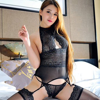 Erspective Womens Lace Temptation Porn Underwear Set See Through Erotic Lingerie Set Hollow Out Sexy Christmas Clothes Nightwear 1