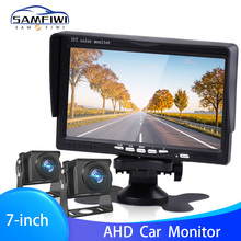 7 inch Car Monitor IPS AHD Display Cameras Reverse Camera Parking System for Car Rear view Monitors For Backup Camera Truck Bus cheap NoEnName_Null 176*113mm SAMFIWI In-Dash 1024*600 1500g 7 0 Inch IPS Screen Supports AHD and CVBS signals English Russian Chinses Japanes French German Spanish Portuguese