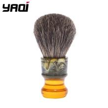 Yaqi pincel de barbear emborrachado masculino, pincel liso de resina para homens 22mm sagrada família 100%