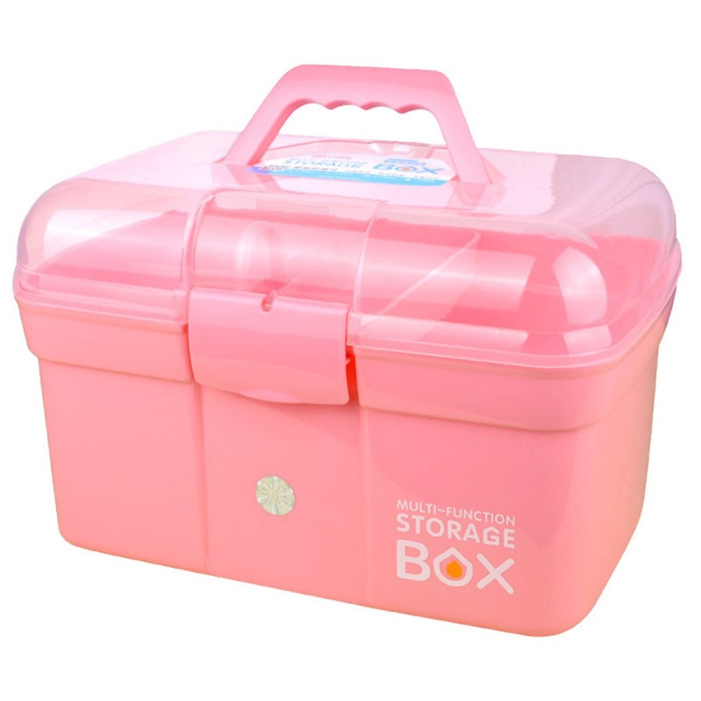 Three-storey Multicolor Double Layer Tools Multi-function Plastic Storage Box Case Nail Art Beauty Manicure Accessory Tool