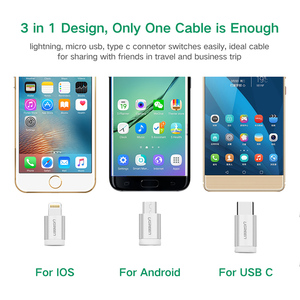 Image 5 - Ugreen MFi Lightning USB Cable For iPhone 11 Pro 8 7 3 in 1 3A USB Type C Fast Micro USB Cable for Samsung Huawei Charging Cord