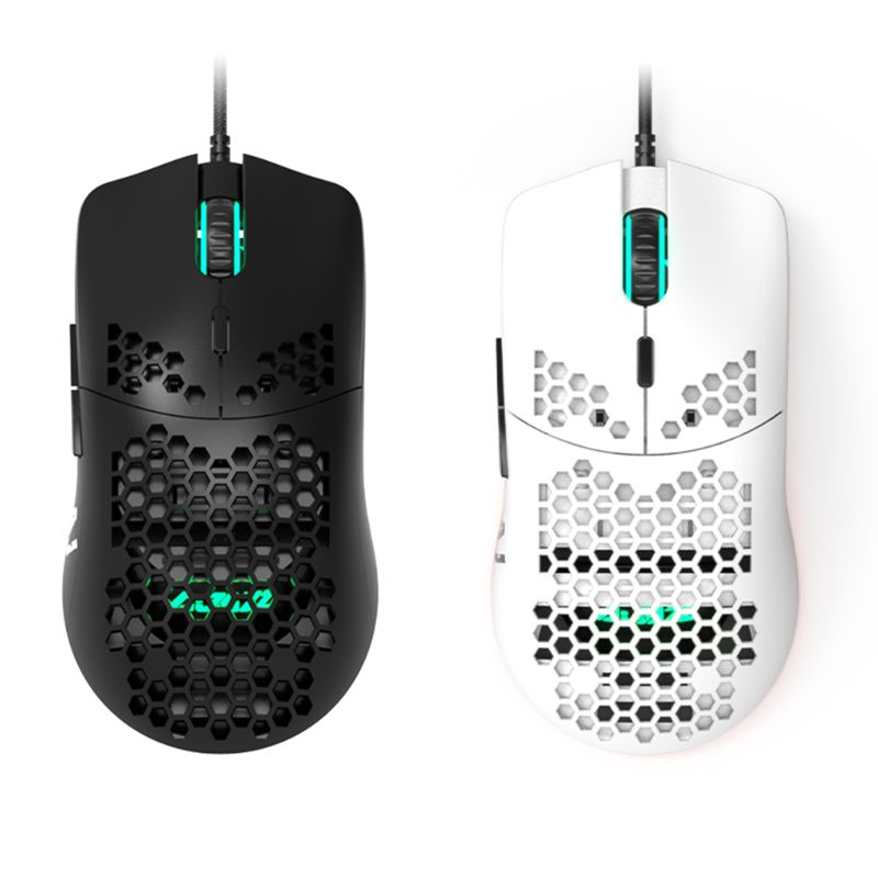 AJ390 Lightweight Wired Mouse Hollow-out Gaming Mouce Mice 6 DPI Adjustable 7Key B36A