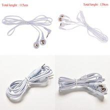 2/4 tasten Neue Elektro Elektrode Blei Elektrische Schock Drähte Kabel Für Zehn Massager Verbindung Kabel Massage & Entspannung