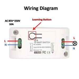 Image 4 - Interruptor sem fio controlador da lâmpada ac 220v 10a 2200w 1ch 433 mhz rf relé de controle remoto e transmissor para iluminação & porta sistema