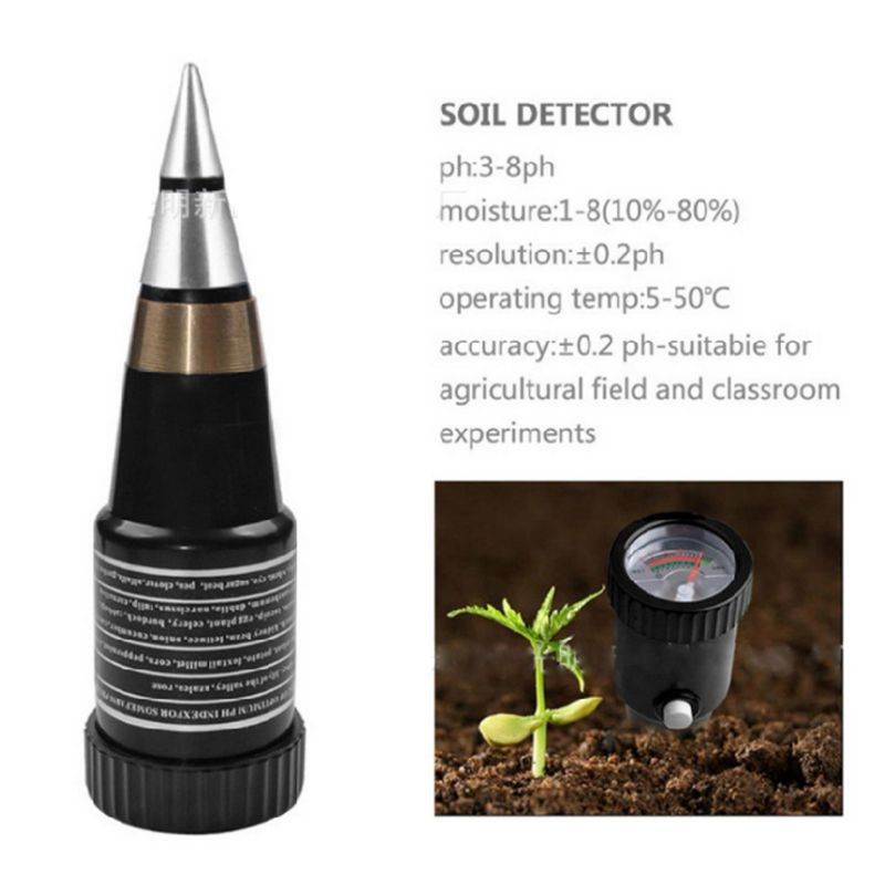 Двухконтурный измеритель кислотности почвы PH значение PH тестер гигрометр для определения влажности солености Высокая чувствительность по