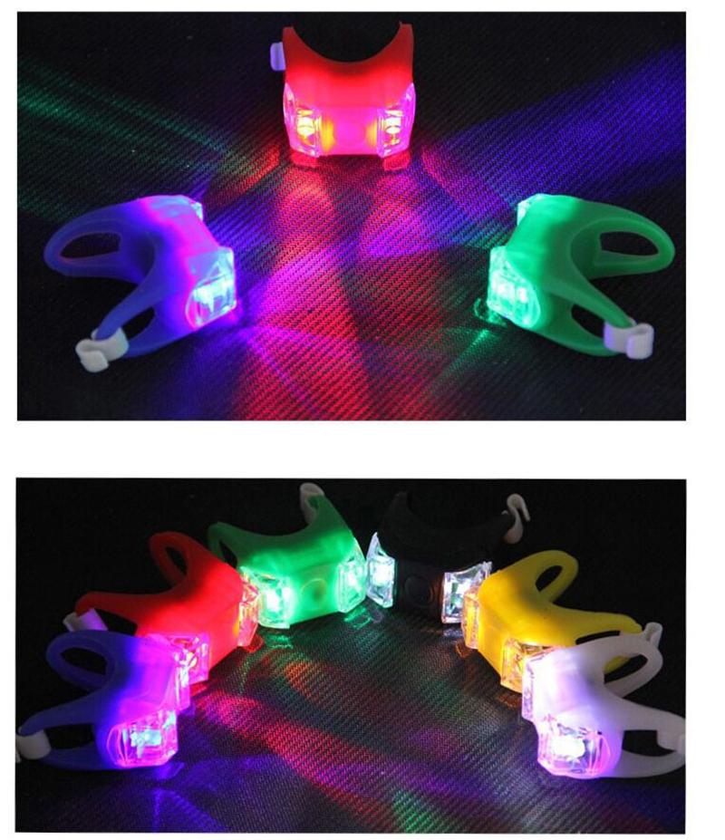 Bicycle Lights With Batteries Waterproof Bike Front Rear Rail Light LED Flash Safety Warning Lamps Bike Cycling Accessories