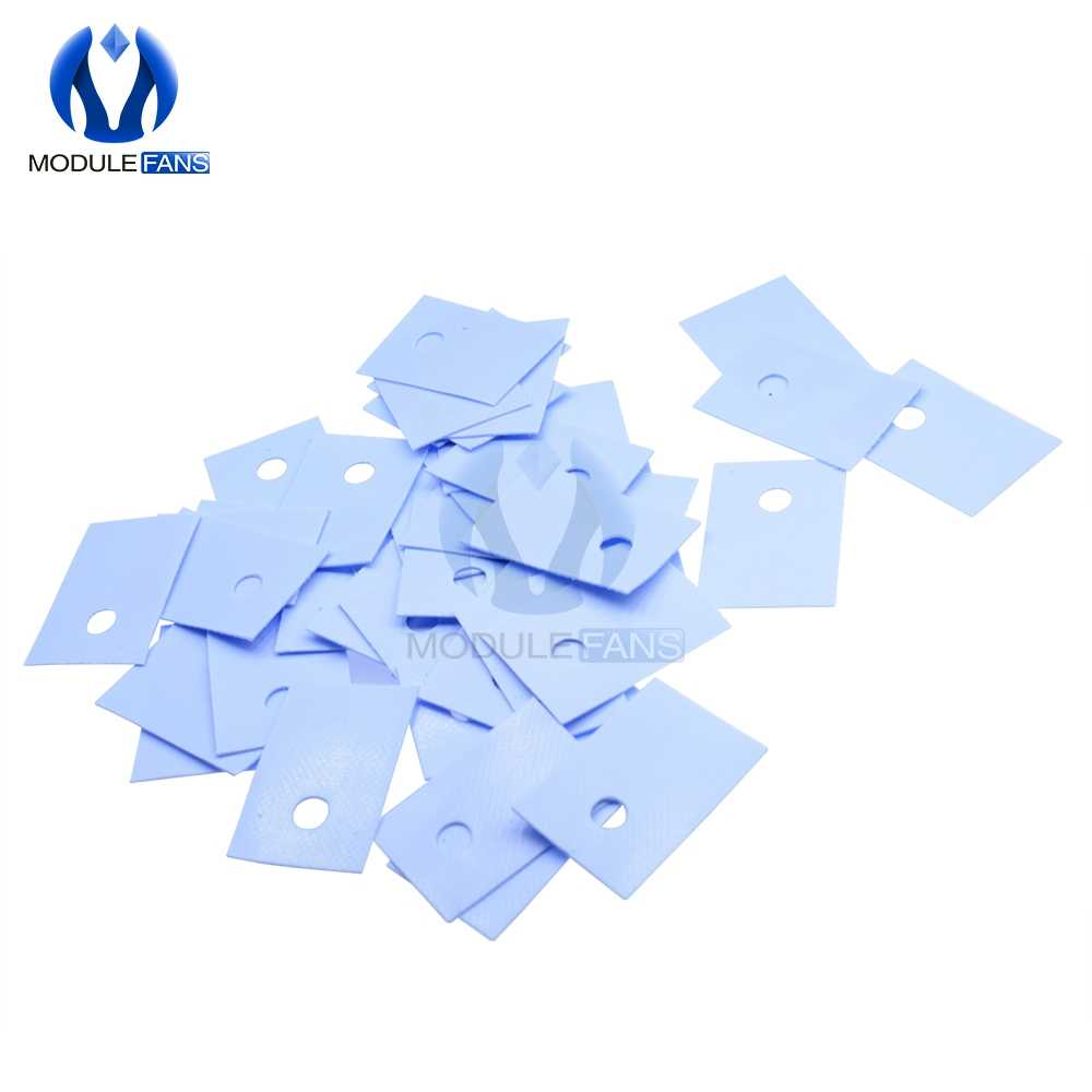 100PCS NEW  TO-220 Insulation Pads Silicone Heatsink Shim for Laptop CPU GPU