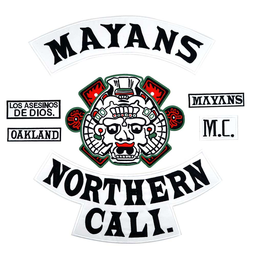MAYANS NORTHERN CALI backing Embroidered Sewing Label punk biker Patches Clothes Stickers Apparel Accessories Badge