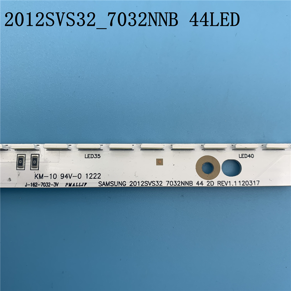 New 44LED*3V 406mm LED Strip For Samsung UA32ES5500 UE32ES6100 SLED 2012svs32 7032nnb 2D V1GE-320SM0-R1 32NNB-7032LED-MCPCB