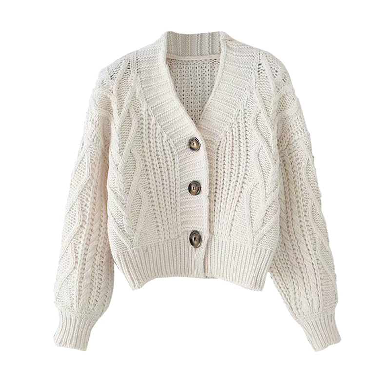 Autumn And Winter Women's Knit Cardigan Short Cardigan Tops Chic Students Loose Solid Color Single-breasted Sweater GD149