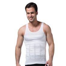 Corsé adelgazante para hombre, camiseta de compresión para control de abdomen, ropa interior ajustada para ceñir la cintura