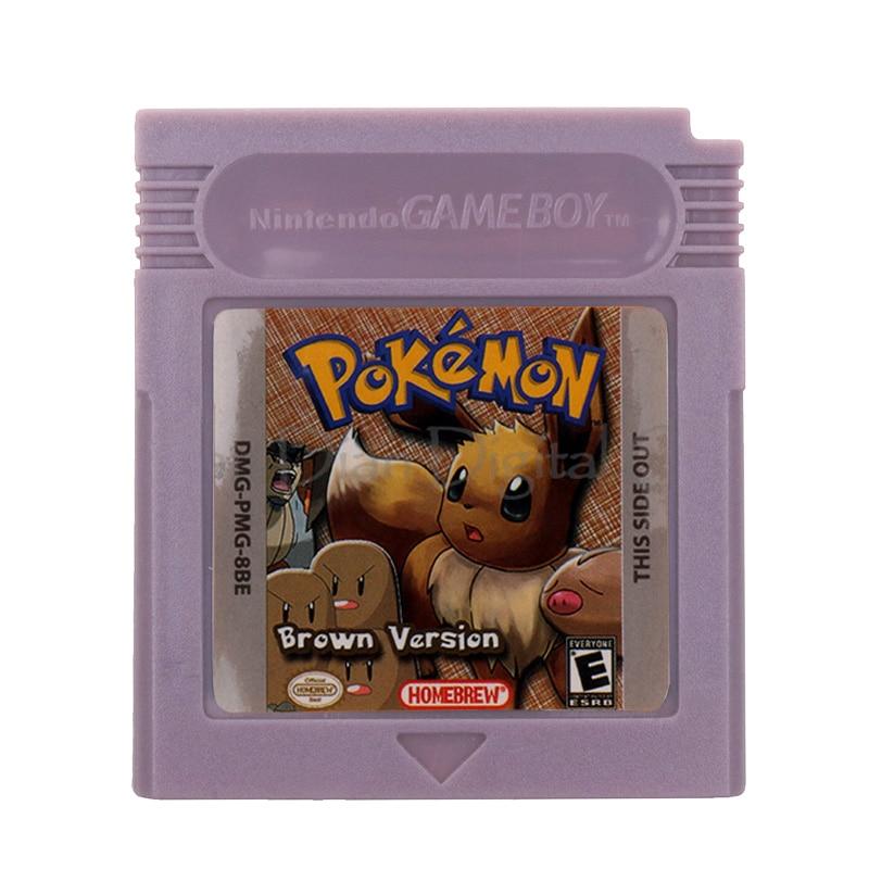 For Nintendo GBC Video Game Cartridge Console Card Poke Series Brown Version English Language Version 1