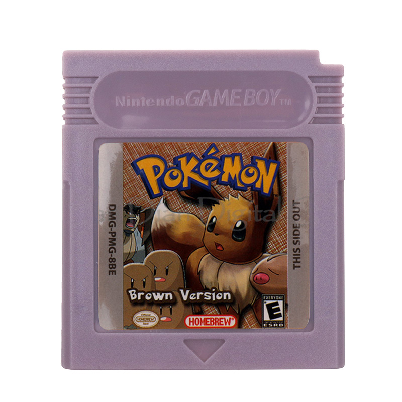 For Nintendo GBC Video Game Cartridge Console Card Poke Series Brown Version English Language Version