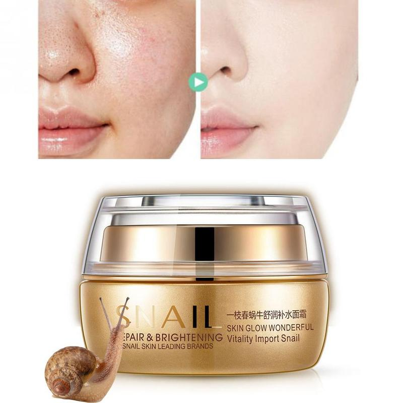 50g una crema de Caracol de Primavera Anti arrugas nutritiva punto crema de acné tratamiento Faical hidratante cuidado de la piel reparación Crema de Cara de día| |   - AliExpress