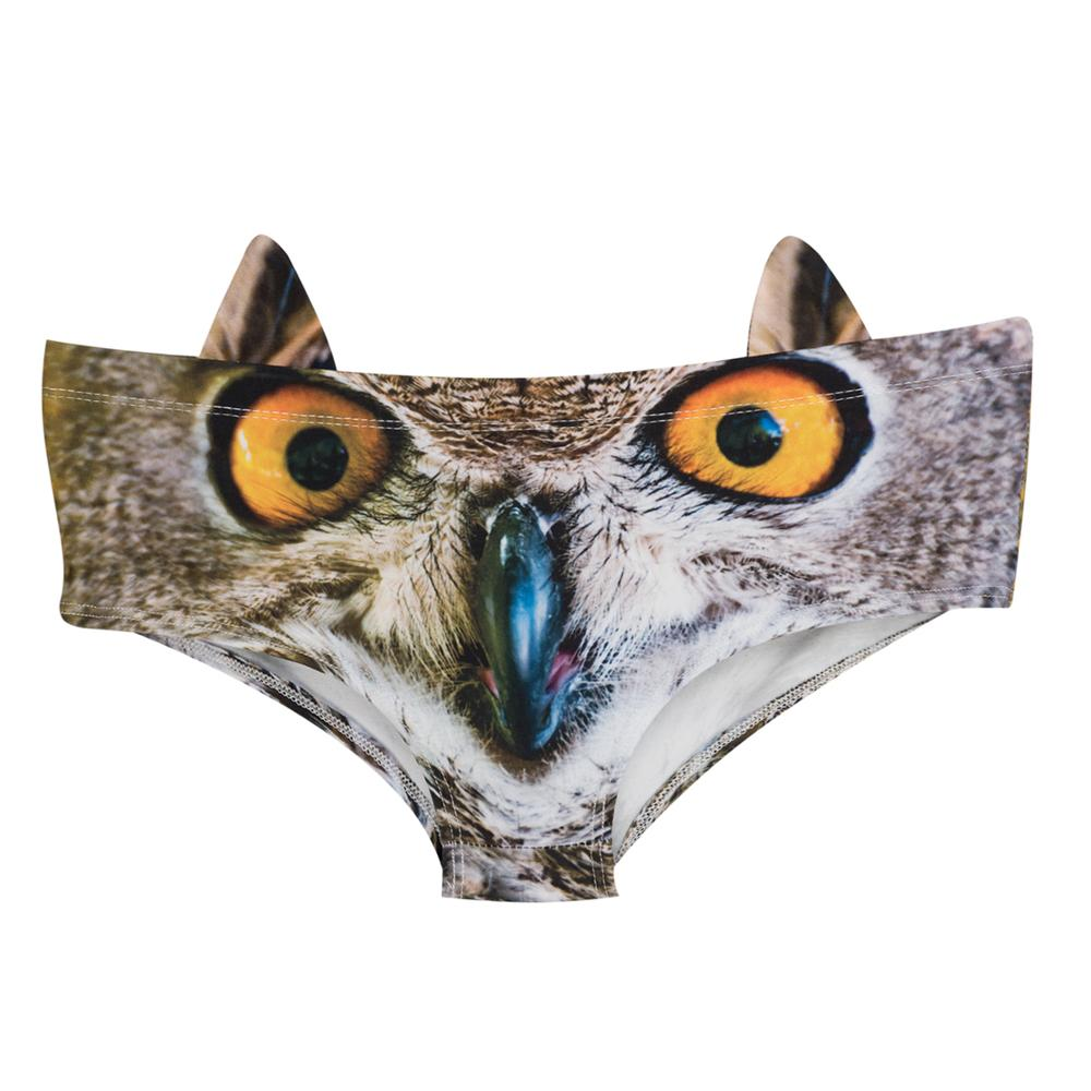 Women Panties with ears Underwear owl 3D Printing Briefs Woman Underwear Sexy Lingerie Women's Intimates Panties