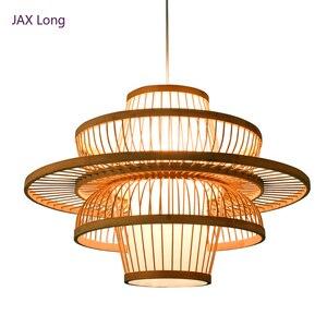 Image 1 - Chinese style Bamboo pendant lights Lighting Garden Restaurant kitchen pendant lamp Hotel Farm Teahouse Lantern Tatami Hanglamp