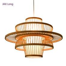 中国風の竹ペンダントライト照明ガーデンレストランキッチンペンダントランプホテルファーム茶屋ランタン畳 Hanglamp