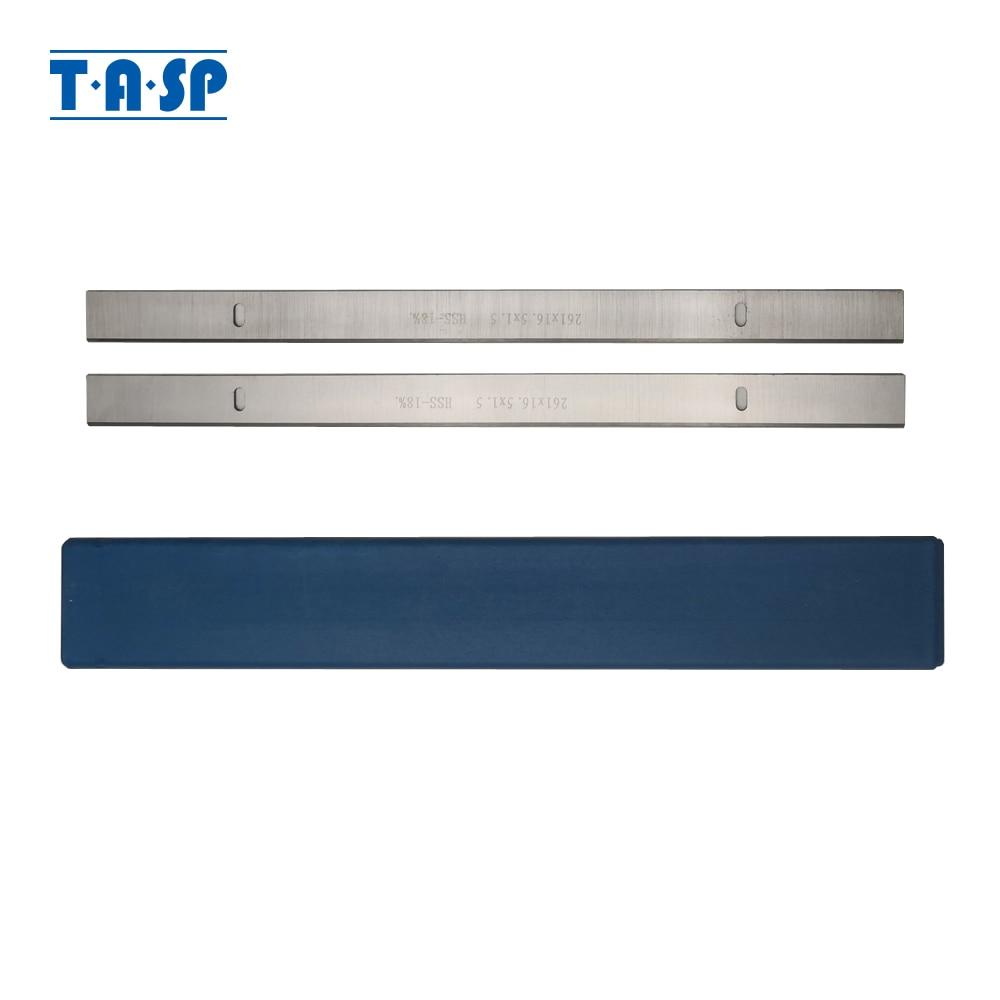 TASP 2pcs 261mm HSS Thicknesser &  Planer Blade 261x16.5x1.5mm Woodworking Knives For Scheppach HMS1070 Thicknesser JET JPT-10B