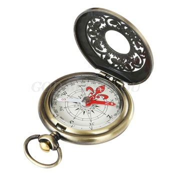 Vintage Bronze Compass Pocket Watch Design Outdoor Hiking Navigation Kid Gift Retro Metal Portable Compass Drop Shipping 4