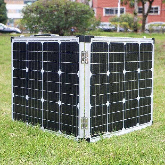 Фото dokio 100 вт складной панели солнечные китай (2 шт х 50 вт) цена