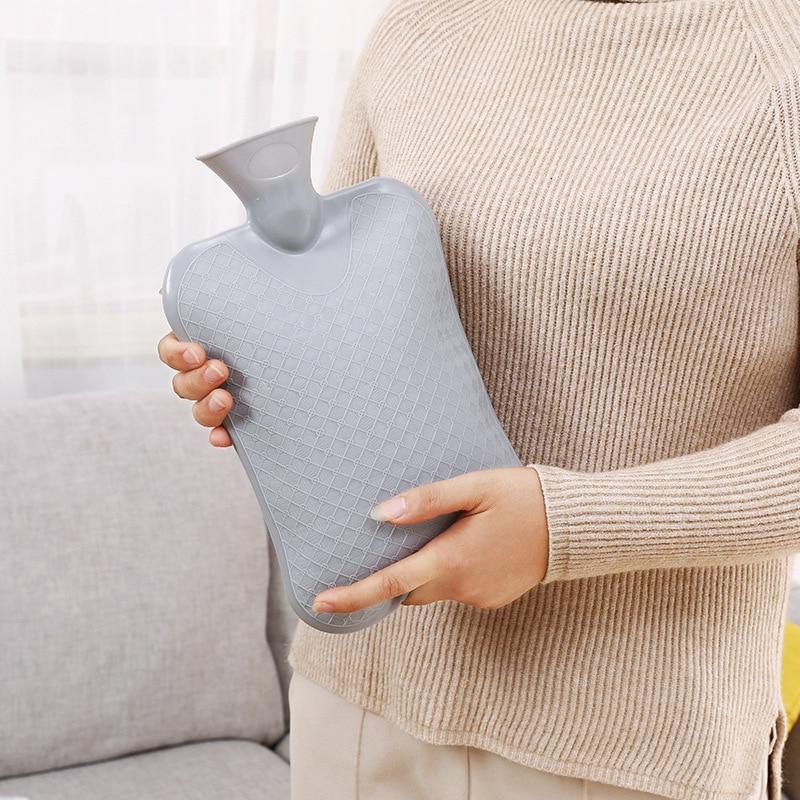 Isıtıcı şişe sıcak su el ısıtıcı katı renk kalınlaşmış PVC silikon kauçuk sıcak su şişesi ev aksesuarları