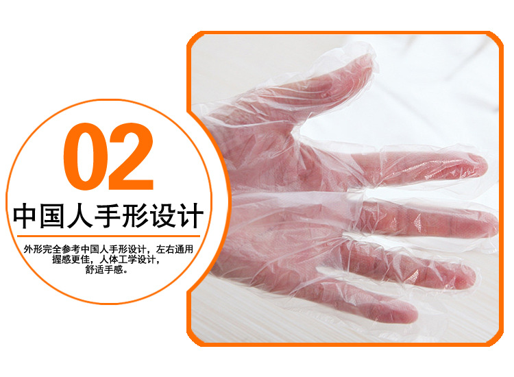 Hot 18 dollar 1000pcs / pack  Disposable gloves plastic PE film gloves gloves Anti Virus and Bacteria and oil